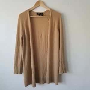 Theory 100% Cashmere Camel Open Front Cardigan S